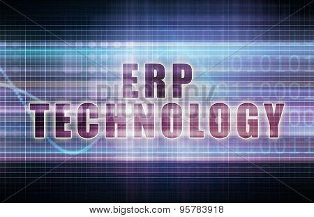 ERP Technology on a Tech Business Chart Art