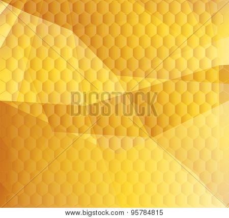 Honeycomb background design vector illustration template