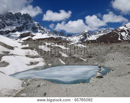 Little Lake On The Ngozumba Glacier