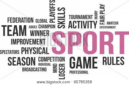 word cloud - sport