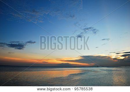 Beautiful Tropical Seaside Sunset