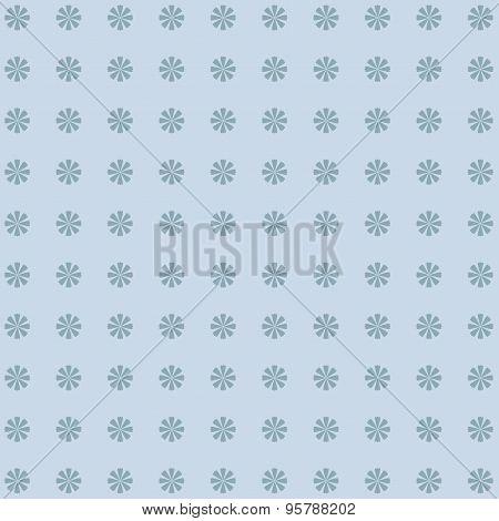 Classic  Vintage Flower Pattern On Blue Background