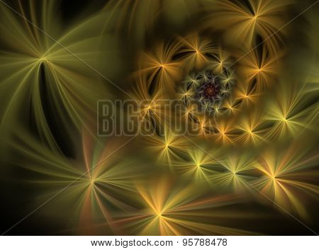 Abstract Fractal Fluffy Spiral