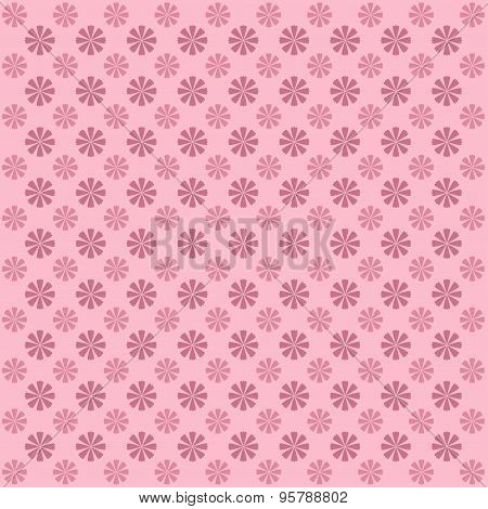 Classic  Vintage Flower Pattern On Pink Background