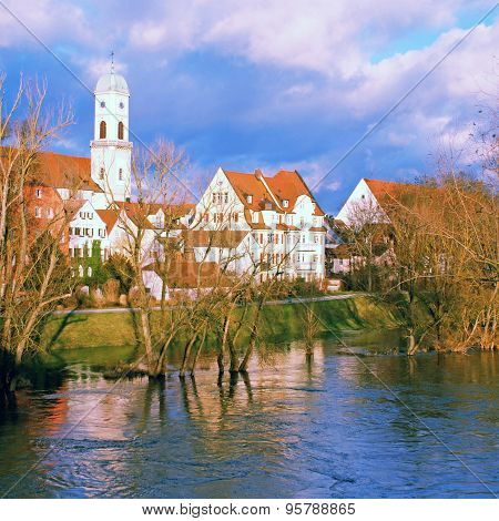 Regensburg And Danube River, Bavaria, Germany