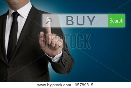 Buy Internet Browser Is Operated By Businessman