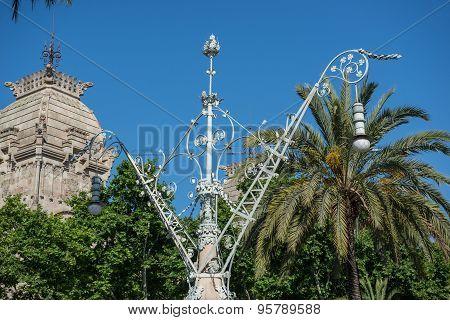 Street Lantern In Barcelona