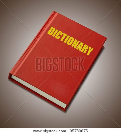 Red Hardback Dictionary
