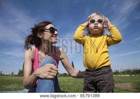 Mom And Baby Sunglasses