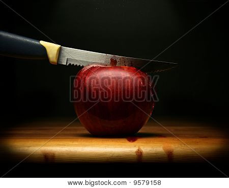 Wounded Red Apple