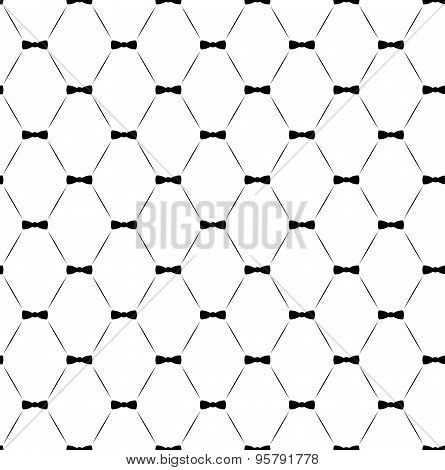 Tie Bow Seamless Pattern