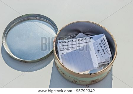 Typical Geocaching Container