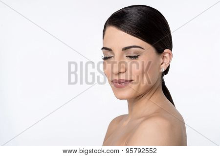 Young Woman With Bare Shoulders