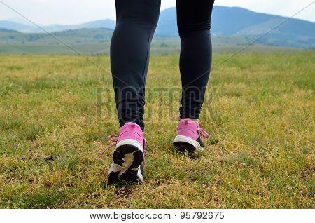 Woman Jogging Legs