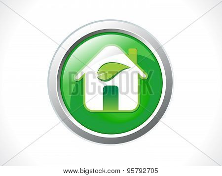 Abstract Glossy Eco Home Icon