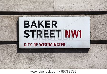 Baker Street Sign In London