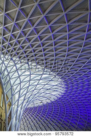 The Lattice Ceiling In Kings Cross Station
