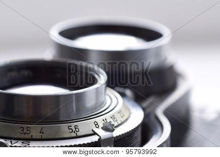 Old Camera Lens Closeup