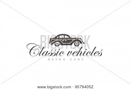 Retro Car Logo abstract design vector template.