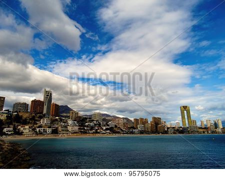 Benidorm seascape, shore, Costa Blanca