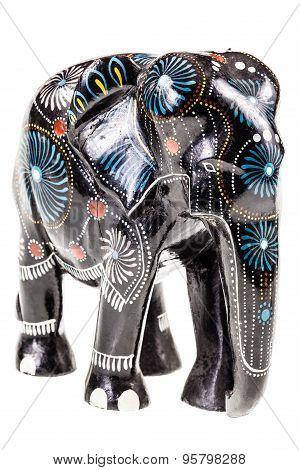 Black Wooden Elephant Figurine