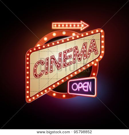 Neon Sign. Cinema