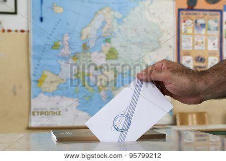 Greeks Vote In Bailout Referendum