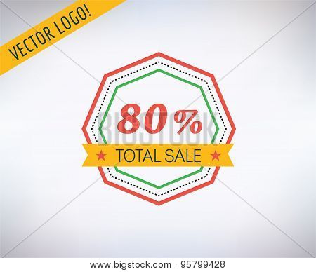 Sale vector sticker icon. Shopping, Discount and Black Friday symbol. Stock design elements