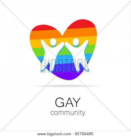 Gay Community - sign design. Template logo.