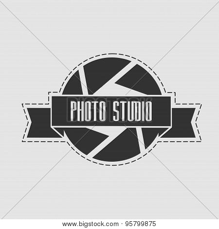 Photo Studio Logo In Vintage Style. Can Be Used For Logos Photo Studio, And Web Design.