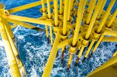 picture of offshore  - Oil and Gas Producing Slots at Offshore Platform - JPG