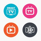 foto of tv sets  - Circle buttons - JPG