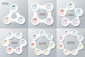Vector circle infographic. poster