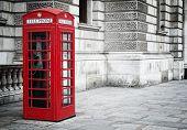 Постер, плакат: Красный телефон box в Лондоне