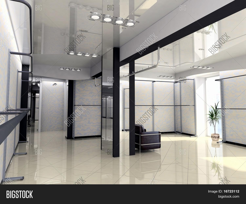 Modern Shop Interior design (computer-generated image ...