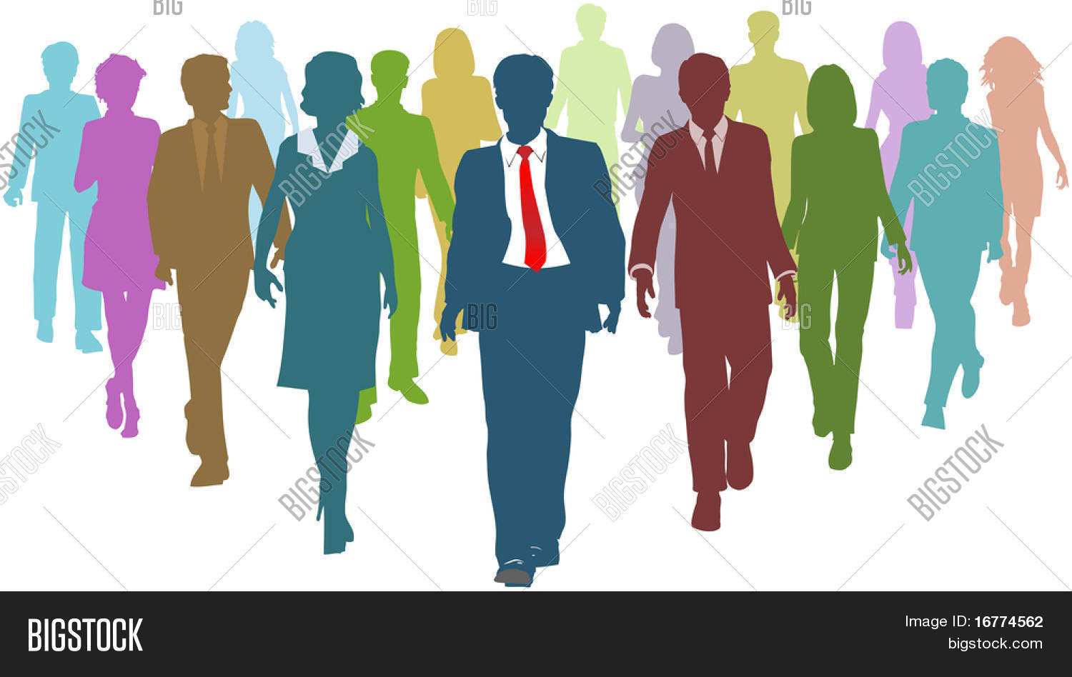 diverse business people human resources silhouettes follow a team diverse business people human resources silhouettes follow a team leader