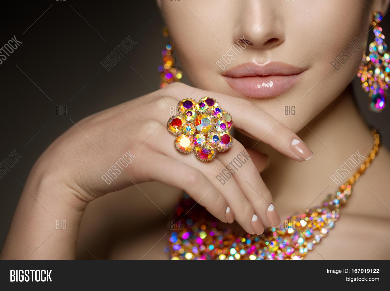 Diamond Ring On Hand Beautiful Image & Photo | Bigstock