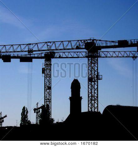 Crane Silhouette 01