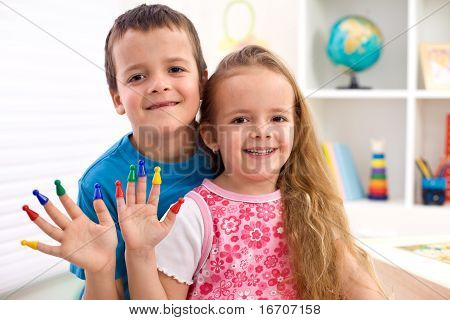 Kids Playing With Game Pieces