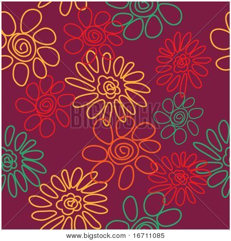 art vintage floral background