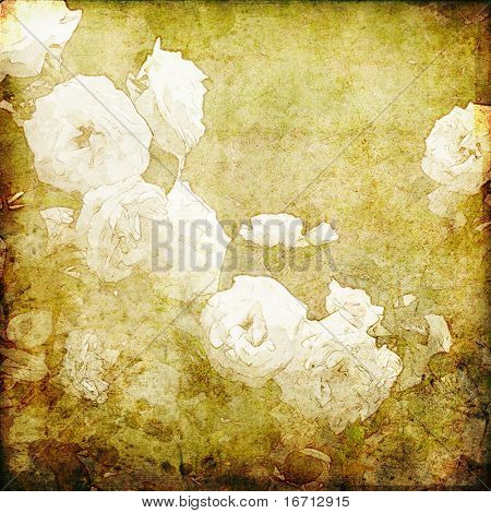 art grunge floral vintage background texture