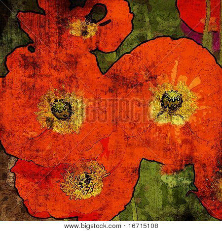 art floral grunge graphic background. To see similar, please VISIT MY PORTFOLIO.