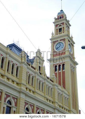 Clock In A Building