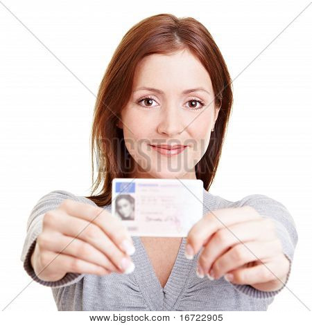Teenage Girl With European Driving License