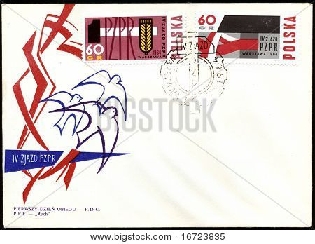 Fdc Poland Envelope Issued In 1964