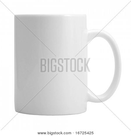 Cup on the white background (isolated).