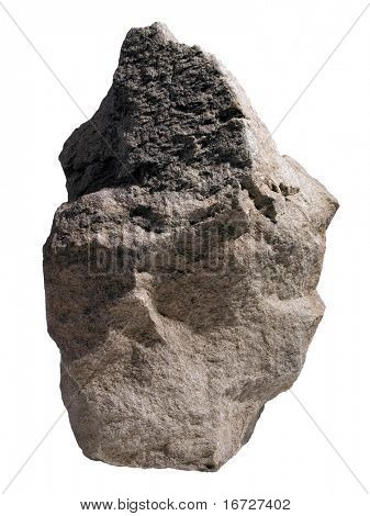 Rock on white background (isolated).