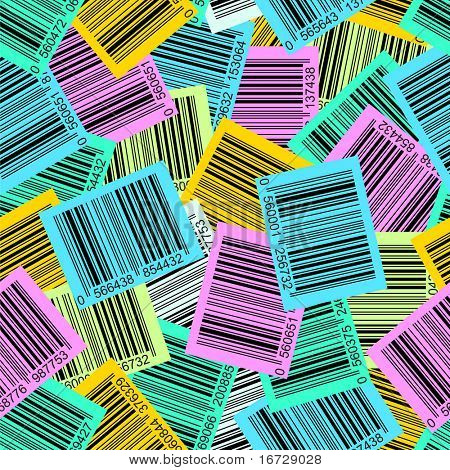 Varicolored bar-code seamless background. (See more seamless backgrounds in my portfolio).