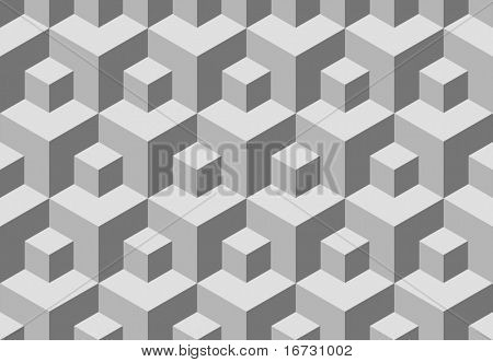Seamless cubes background. Vector pattern for continuous replicate.