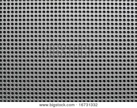 Abstract metal perforated background.